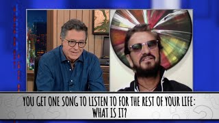 Ringo Starr Takes The Colbert Questionert
