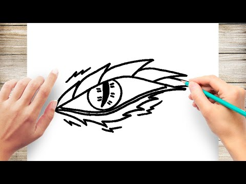 How To Draw Dragon's Eye Easy