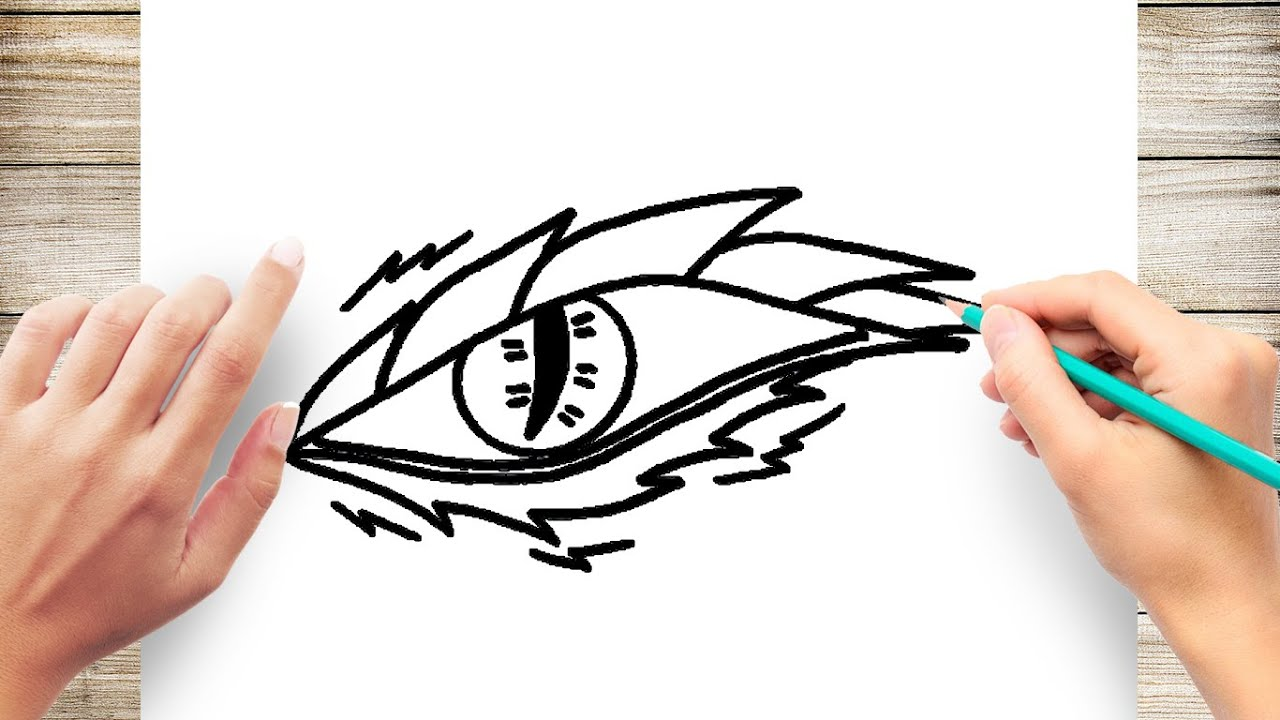 How To Draw Dragon S Eye Easy Youtube