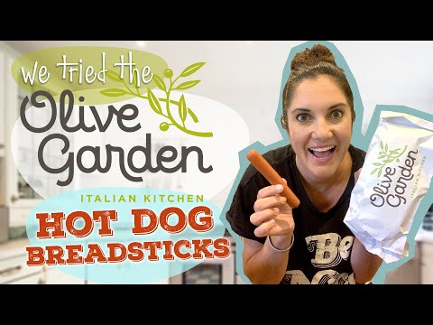 We Had to Try the Olive Garden Hot Dog Hack | Breadstick Hack | Taste Test and Review