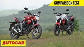 Suzuki Gixxer vs Yamaha FZ-S FI V2.0 | Comparison Test Video | Autocar India