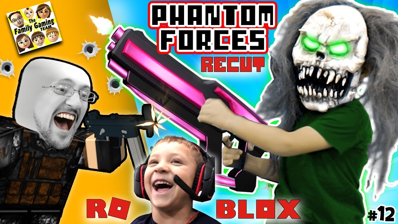 GIANT CLOWN + FGTEEV CLONES! ROBLOX PHANTOM FORCES #12 Re-Cut (Gameplay Skit)