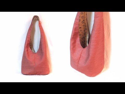 簡単おしゃれ!リバーシバブル ショルダーバッグの作り方 / Reversible Boho Sling Shoulder Bag Tutorial.