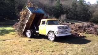Dump truck in action