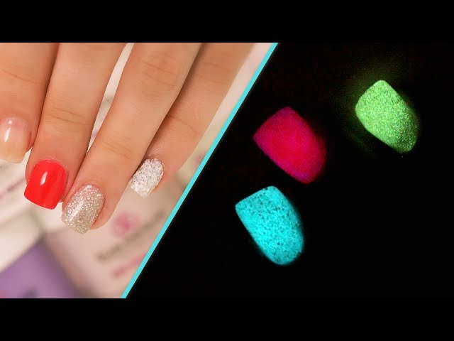 Grant Gets Glow In The Dark Acrylic Nails