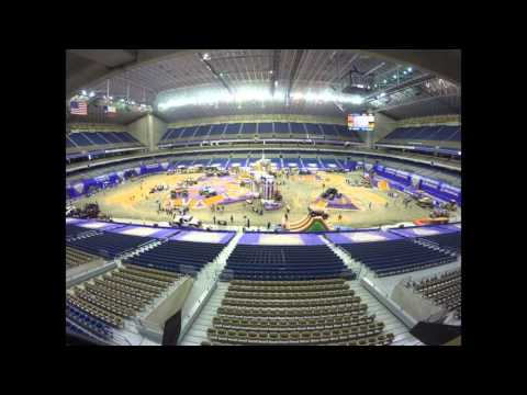 Monster jam at the alamodome time lapse for 2016
