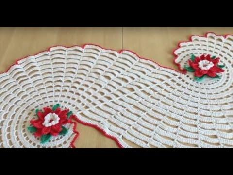 Tuto chemin de table spirale ou tapis au crochet sp cial gaucher youtube - Chemin de table lavande ...