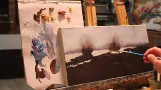 Алла Белопесоцкая видеоурок №2 пейзаж маслом