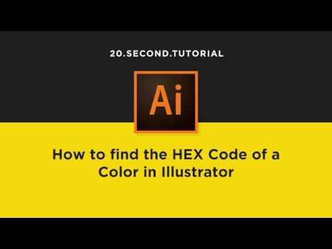 Find The Hex Code Of A Color In Illustrator Adobe Illustrator