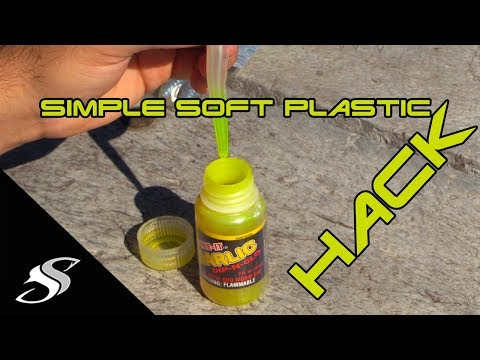 Soft Plastic Fishing Lure Hack - Chartreuse Yourself!