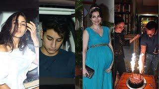 Pregnant Soha Ali Khan, Ibrahim Ali Khan,Sara Ali Khan At Saif Ali Khan's Birthday Celebration