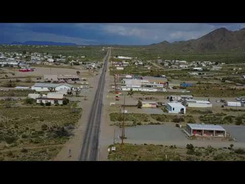 Drone Stroll Down Main Street: Dolan Springs, AZ 3/27/17