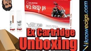 v2 cigs v2 ex cartridge v2 red flavor unboxing