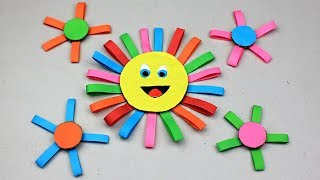DIY Happy Sunflower from Paper | Crafts for kids