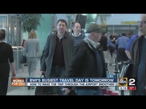 Thanksgiving travel tips (BWI Airport)