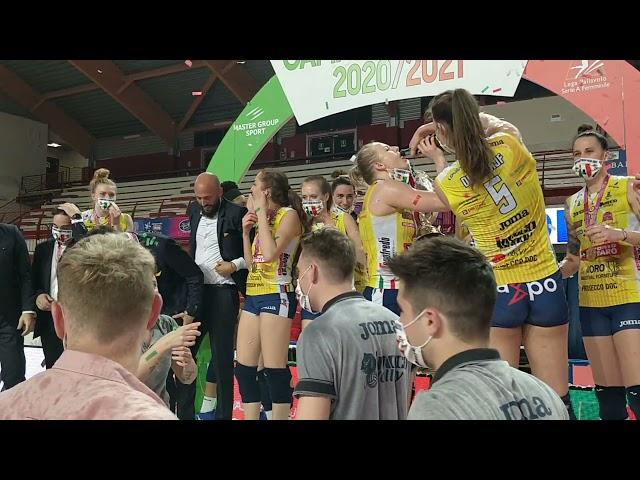 Festeggiamenti Scudetto 2021 Imoco Volley