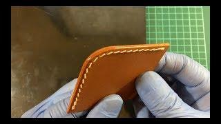 Burnishing Leather Edge / Leather Craft / Simple / Handmade