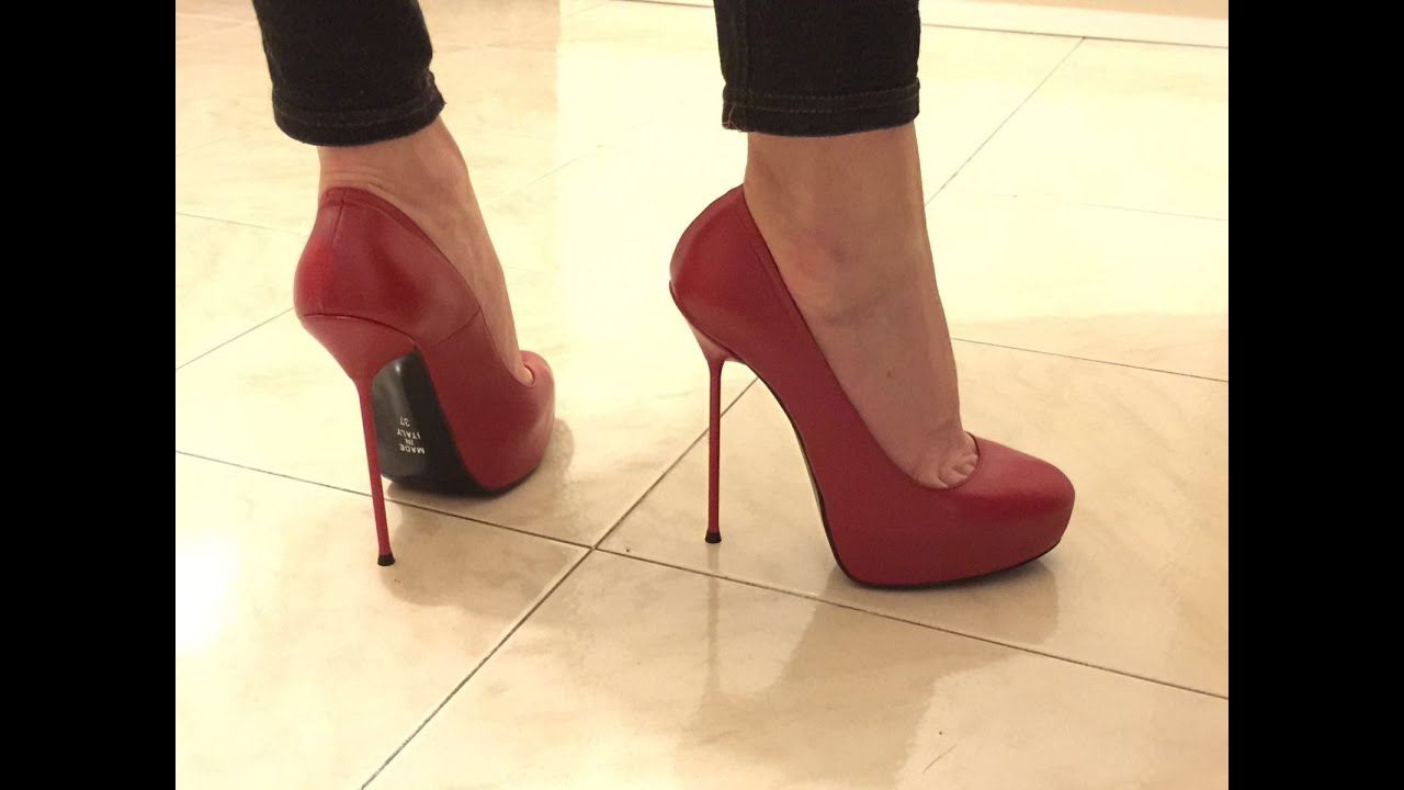 6 inch HIGH HEELS platform red pumps - by Fuss Schuhe - YouTube
