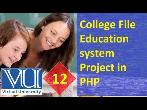 12-College File Education system Project in PHP - URDU / HINDI