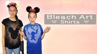 BACK TO SCHOOL DIY Bleach Art SHIRTS | DISNEY DIY | CRAFTS FOR TEENS!