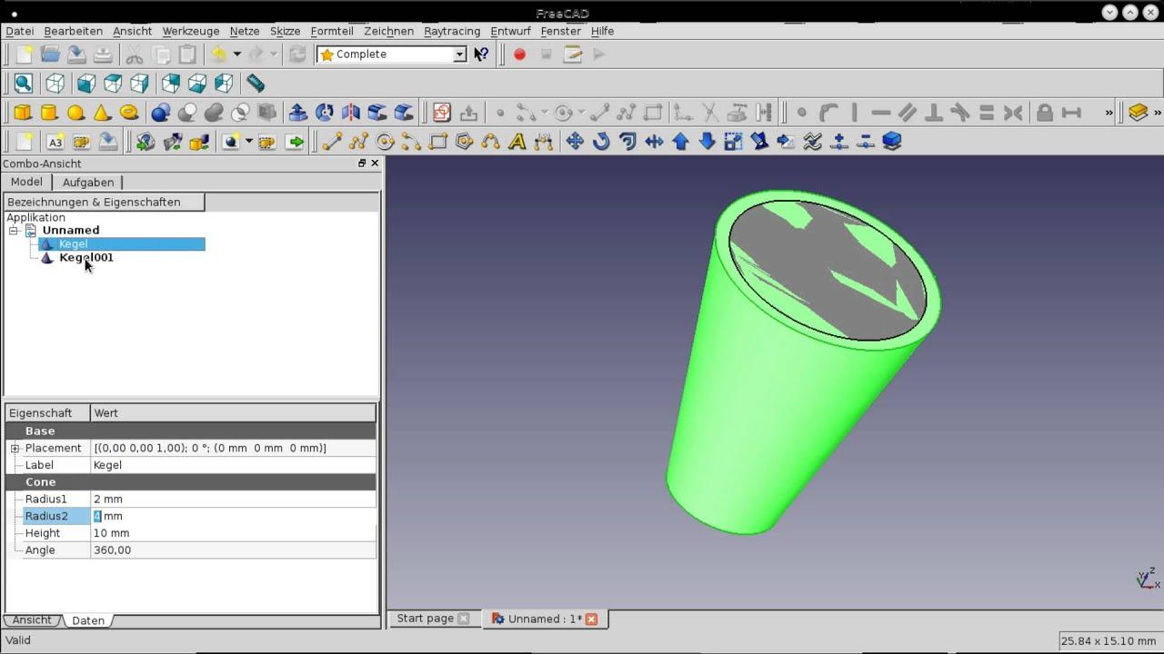 FreeCad 3D Parameter nachträglich bearbeiten - YouTube