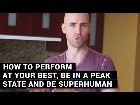 My Daily Ritual - How To Perform At Your Best, Be In A Peak State And Be Superhuman
