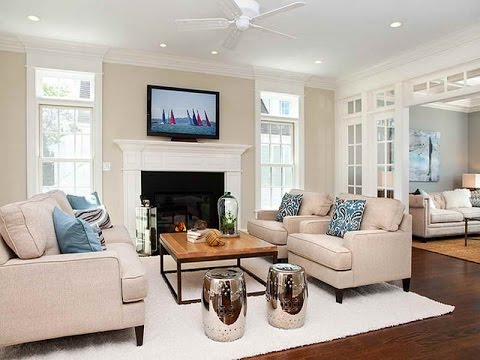 Interior Design Ideas Living Room with Fireplace - YouTube