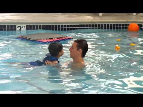 Rennie's 1st swim lesson at JCC