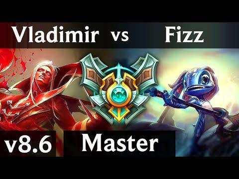 VLADIMIR vs FIZZ (MID) /// Korea Master /// Patch 8.6