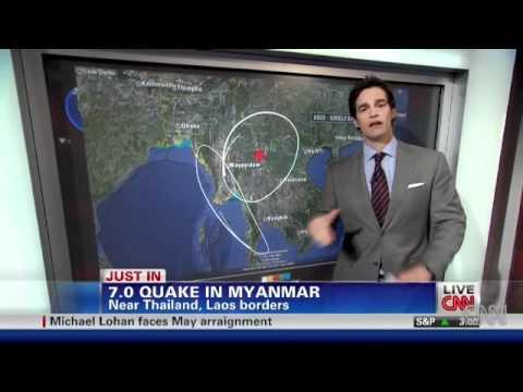 Video ve dong dat o Myanma va Thai Lan