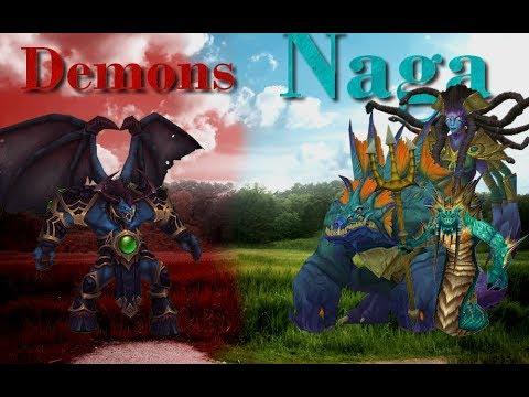 [Warcraft III] Map Custom |Nagas Vs Démons.
