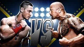 WWE12 - The Rock VS John Cena