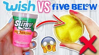 $1 WISH SLIME VS 5 BELOW SLIME! Which Is Worth it?!?