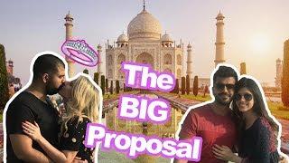 THE BIG PROPOSAL!!! OMG! | TRAVEL VLOG : TAJ MAHAL | Malvika Sitlani