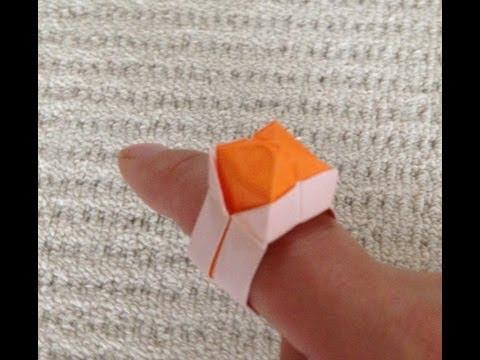 簡単 折り紙 : 折り紙 指輪 作り方 : youtube.com