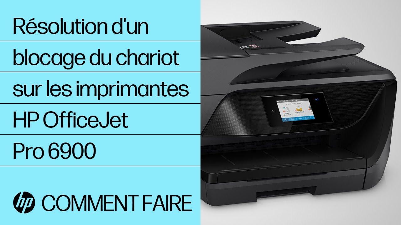 Résolution d'un blocage du chariot sur les imprimantes HP OfficeJet Pro 6900