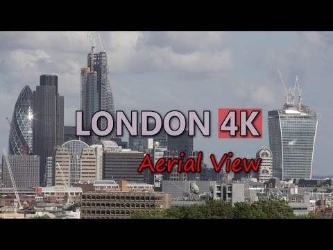 Ultra HD 4K London City Aerial View Travel Skyline Day Night Business Towers UHD Video Stock Footage