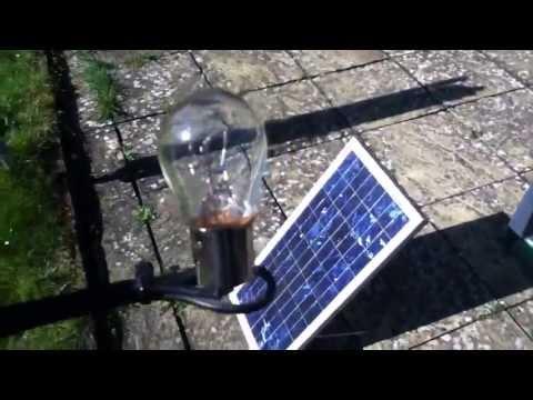 20W Solar Panel / 21W Bulb - A Perfect Match? (part 1)
