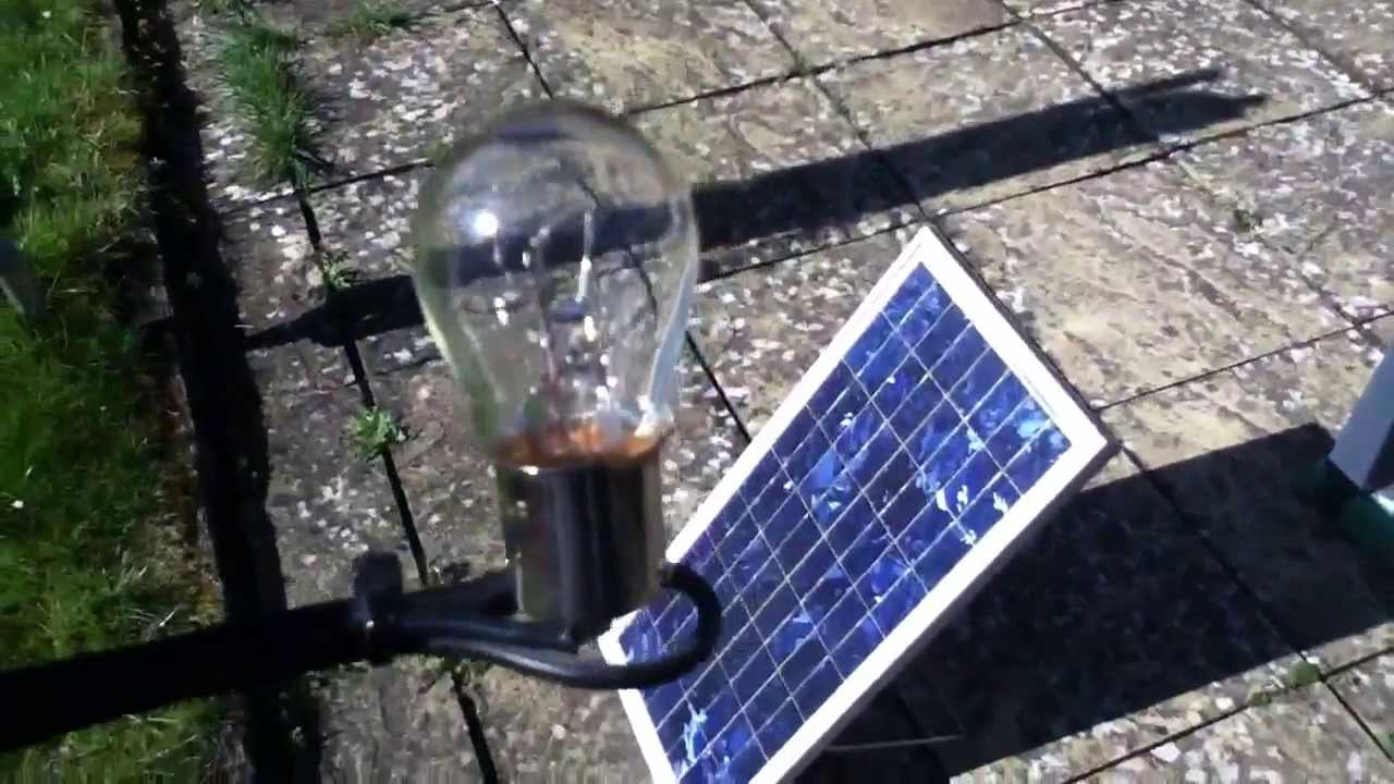 20W Solar Panel  21W Bulb  A Perfect Match? (part 1