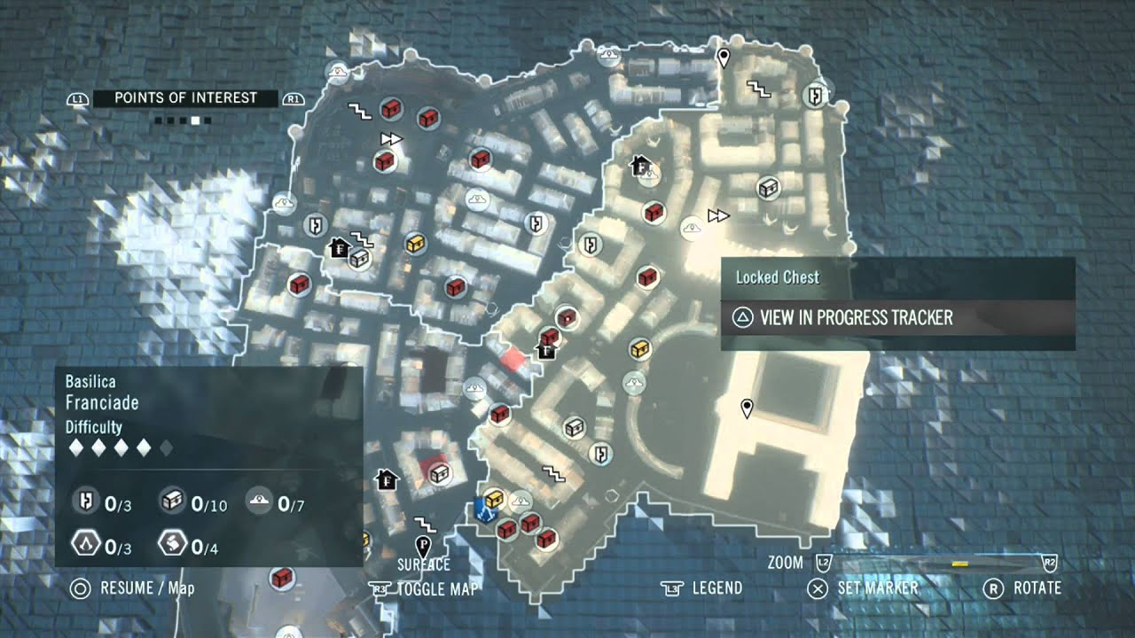 Assassin S Creed Unity Dead Kings Chest Locations Basilica Youtube