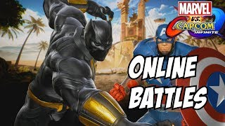 Marvel vs capcom infinite Black panther dlc and Captain america gameplay   online matches