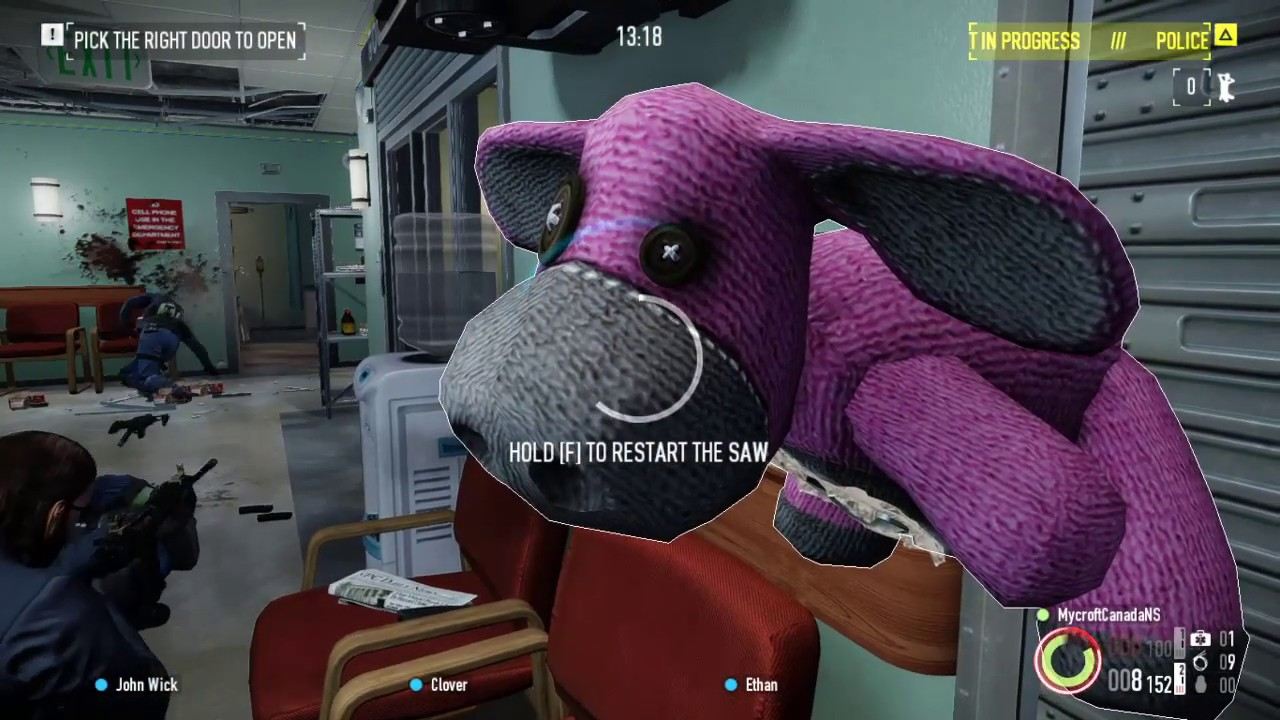 Payday 2 - Hospital: Collect 2 Contaminated Blood Samples & Get Out