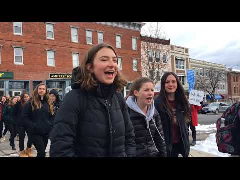 National School Walkout: Amherst students, educators march for gun control