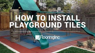 How To Install Rubber Playground Tiles