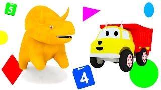 ¡Aprender con Dino el Dinosaurio y Ethan el Camión Volquete! Los colores, los números, las frutas...
