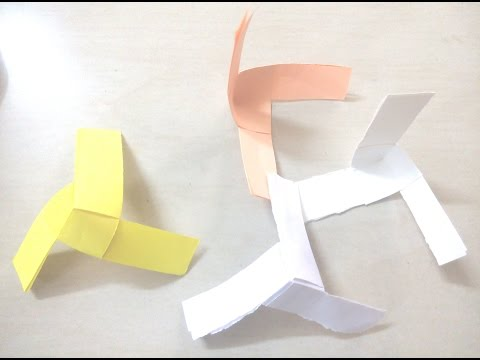 DIY: How to make paper Propeller / Paper fan - Origami for Kids