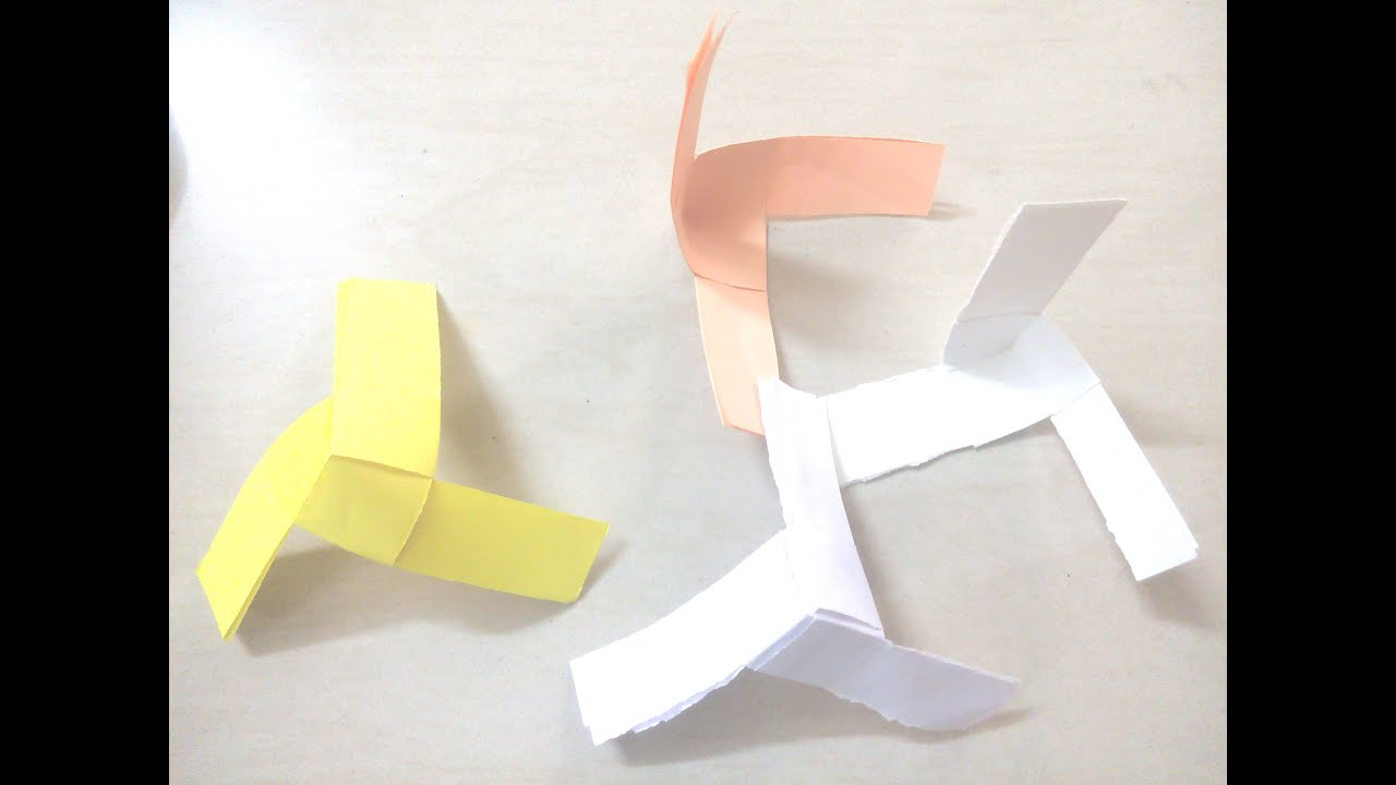 Diy how to make paper propeller paper fan origami for for How to make a paper design