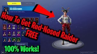 How To Get Christmas Red-Nosed Raider Free In Fortnite! *Still Working October*