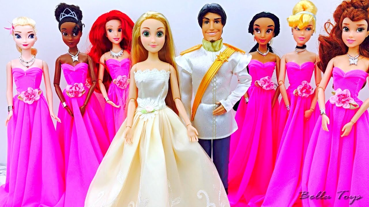 Le mariage de raiponce poupee barbie disney routine du - Le mariage de raiponse ...