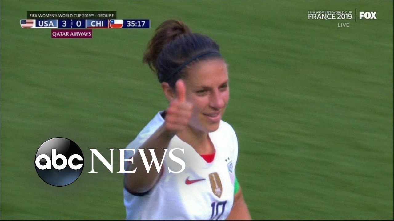 ABC News:US soccer star defends celebrations after 2nd win